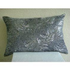 Designer Silver King Pillow Shams, Spiral Sequins Glitter... https://www.amazon.com/dp/B004NPQKB6/ref=cm_sw_r_pi_dp_x_xvQryb9W36N1R