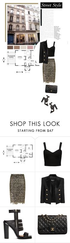 """""""Untitled #379"""" by zoeleoy ❤ liked on Polyvore featuring Forever New, Dolly & Delicious, Balmain, Shoe Cult and Chanel"""