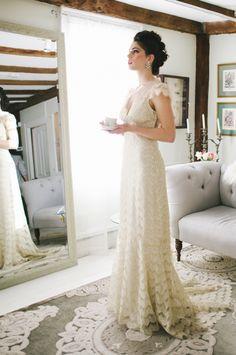 Claire Pettibone 'Eloquence' wedding gown http://www.clairepettibone.com/bridal/?cp=gowns/eloquence  | Photo: @Michelle Gardella via @Everthine Bridal Boutique