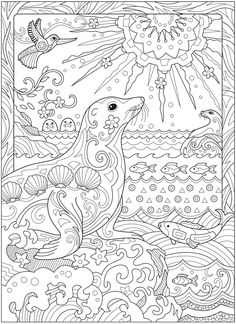 Welcome to Dover Publications – CH Fanciful Sea Life Make your world more colorful with free printable coloring pages from italks. Our free coloring pages for adults and kids. Beach Coloring Pages, Printable Adult Coloring Pages, Animal Coloring Pages, Coloring Pages To Print, Coloring Book Pages, Free Coloring, Summer Coloring Pictures, Mandala Coloring Pages, Coloring Sheets