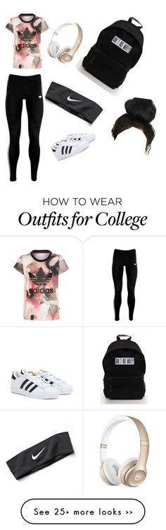 """Untitled #1"" by sunnygraceemmy on Polyvore featuring adidas Originals, adidas and NIKE"