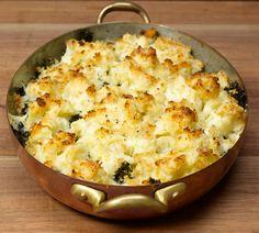 Cauliflower and Kale Au Gratin
