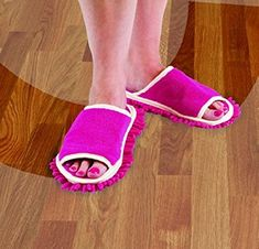 Amazon.com: Slipper Genie Microfiber Women's Slippers for Cleaning and Dusting, Women's House Slippers, Multi-Surface Cleaner, Dust Cleaning Tool, Pink, Fits Women Size 6-9: Home & Kitchen