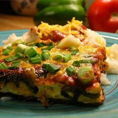 """Chili Rellenos Casserole I """"Very quick, easy, and good. I also used mild enchilada sauce instead of pasta sauce."""""""