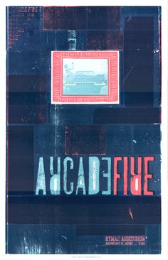 Arcade Fire, 4-color letterpress show poster, 2010