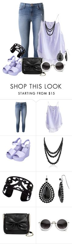 """""""Lavender skinny"""" by danigrll ❤ liked on Polyvore featuring J Brand, Humanoid, Topshop, Bling Jewelry, Lisa August, 1928 and Sam & Libby"""