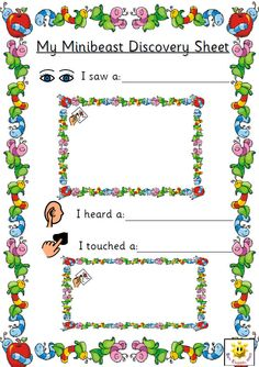 Simple sheets for pupils to record on. Linked to a minibeast hunt. Sheets include PCS symbols to help support those pupils who may need visual prompts and are available in full colour or in an editable black and white format