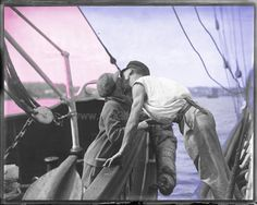 1930 Vintage Photograph: Man and Woman Kissing Across Two Vessels * Digital Print, Ephemera, Wall Decor * Download Instantly, Print & Hang! by BottleCapGuru on Etsy https://www.etsy.com/listing/175239215/1930-vintage-photograph-man-and-woman