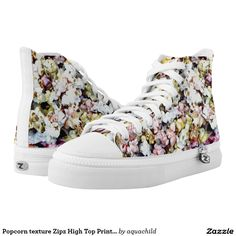 Popcorn texture Zipz High Top Printed Shoes