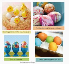 It's Written on the Wall:Fun ideas for dying and decorating Easter eggs