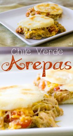 Chile Verde Arepas - New Mexican Foodie