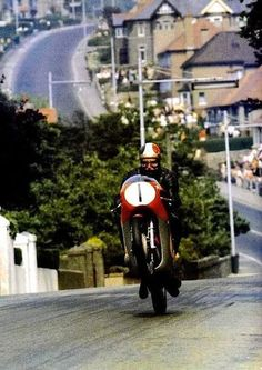 Ago's leap …Giacomo Agostini making a name for himself & for the section between Bray Hill & Quarter Bridge on the Mountain CourseGiacomo Agostini, MV Agusta 500-3, 1967 Isle of Man Tourist Trophy, Senior TT, Ago's Leap