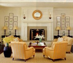 Furniture arrangement w/fireplace