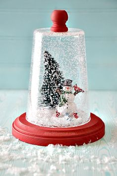 Christmas Gift Idea - Super cute Snow Globe Tutorial at the36thavenue.com: