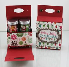 This would hold all sorts of things, cocoa, lifesavers, etc. Stampin' Up! 3d Christmas, All Things Christmas, Christmas Craft Fair, Origami, Craft Gifts, Diy Gifts, Little Presents, 3d Paper Crafts, Ideias Diy