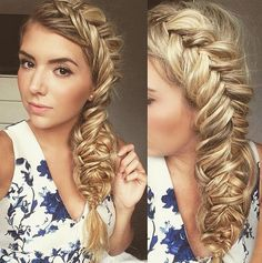 3 Lovely Braided Hairstyles - Gorgeous Dutch fishtail four strand combo braid by whatlydialikes