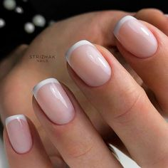 Classic French Nails #frenchnaisl #elegantnails ❤️ Short acrylic nails should in no case be underestimated since the number of ideas to play around with is still huge. The best ones are gathered here! #naildesignsjournal #nails #nailart #naildesigns #shortacrylicnails