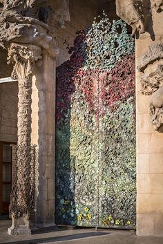 Etsuro Sotoo's door. 2014. La Sagrada Familia. Antoni Gaudí. Barcelona, Spain. Gaudí started work on the project in 1883. Building still under construction. Estimated completion 2026.