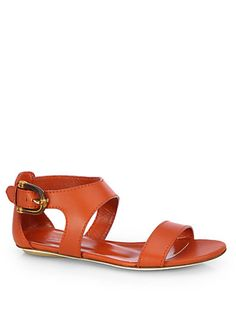 Nadege Leather City Sandals - Zoom - Saks Fifth Avenue Mobile