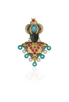 PHILLIPS : NY060115, Nardi, A Gold, Ruby, Diamond, Turquoise and Cultured Pearl Brooch