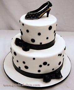 High Heel Birthday Cake by Pink Cake Box in Denville, NJ.  More photos at http://blog.pinkcakebox.com/high-heel-birthday-cake-2008-03-09.htm  #cakes