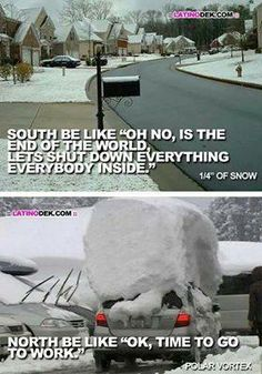 As a former southerner now in New England, I've seen both of these perspectives - LOL!