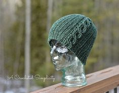 """Knit-Look"" Cabled or Not Beanie by A Crocheted Simplicity #handmade #crochet…"
