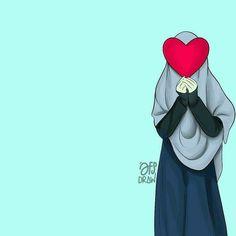 Islamic Art Pattern, Pattern Art, Art Drawings Sketches, Cute Drawings, Girl Cartoon, Cartoon Art, Tmblr Girl, Muslim Pictures, Hijab Drawing
