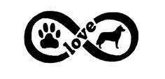 Infinity Love Corgi Paw Sticker