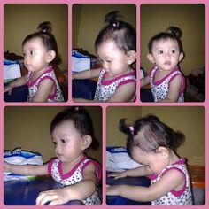 Raisya with chubby cheek and her new hair bound! *kiss-hug*