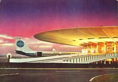 Pan Am  Idlewild (JFK) Airport terminal and an early model B-707