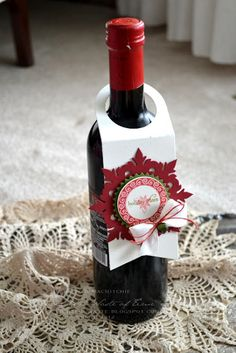 A Delightful Waste of Time: Festive Friday - Holiday Cheer Wine Bottle Tags, Wine Bottle Covers, Wine Tags, Friday Holiday, Christmas Wine Bottles, Christmas Gift Tags, Wine Gifts, Card Tags, At Least