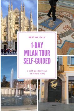 This self-guided walking tour of Milan allows you to see all tourist objectives that matter in this beautiful city of Italy. Best Tourist Destinations, Best Of Italy, Italy Travel Tips, City Break, Italy Vacation, Walking Tour, Tour Guide, Travel Guides, Trip Planning