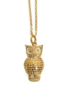 beautiful owl necklace.. love this