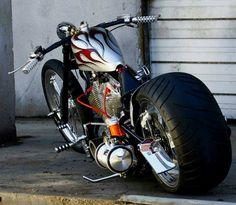 Custom Sportster Chopper.