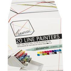 Derwent Graphik Line Painter Set 20/Pkg