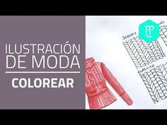 Cómo interpretar tejido de punto en ilustraciones de moda - YouTube                                                                                                                                                     Más