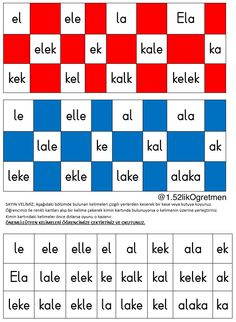 E-l-a-k sesleri ile tombala oyunu. Bingo game about the lett.- E-l-a-k sesleri ile tombala oyunu. Bingo game about the letters that we have cov… E-l-a-k sesleri ile tombala oyunu. Bingo game about the letters that we have covered so far. Class Activities, Classroom Activities, Teaching Kids, Kids Learning, Learn Turkish, Bingo Games, Primary School, First Grade, Special Education