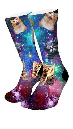 Space Kittens CES Custom Socks
