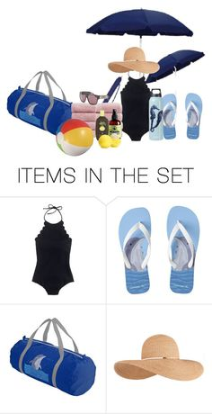 """Off to the Beach"" by lacelives ❤ liked on Polyvore featuring art and vacation"