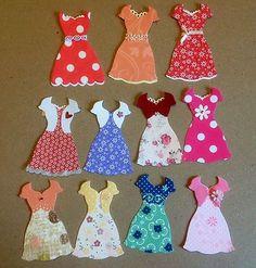 12finished dresses  STAMPIN UP , DRESS freamelets