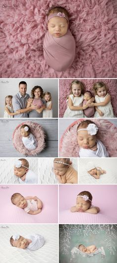 Super cute pink themed newborn photo shoot for 8 day old Miriam. Sunny S-H Photography Winnipeg
