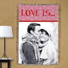 Personalized Love Is...Photo Tapestry Throw Blanket - Gifts Happen Here