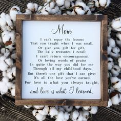 Mom Sign - All The Love - Mother's Day Gift - Motherhood Quote - Wood Sign by SpreadingHopeDesigns on Etsy day gifts diy from daughter Mom Sign All The Love Mother's Day Gift Motherhood Mom Quotes From Daughter, Mothers Day Gifts From Daughter, Diy Mothers Day Gifts, Mother Day Gifts, Gifts For Mom, Thank You For Gift, Mothers Day Signs, Grandma Gifts, Happy Mother Day Quotes