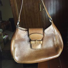 Prada Brown Leather Purse 100% authentic, vintage, great condition , can swamp out more pics per request so you could see more angles of its condition, genuine leather Prada Bags