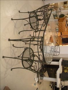Portrait of Wrought Iron Kitchen Tables Displaying Attractive Furniture Ideas