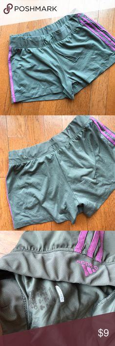 Adidas grey running shorts size large Great basic athletic shorts. Good used condition Adidas Shorts