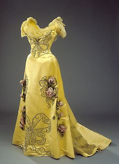 ca. 1898.  The girl who wore this dress to the ball got noticed, for sure!