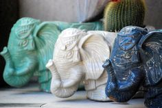 ceramic elephant planter pottery planter utensil by claylicious