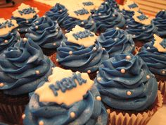 Mark's Birthday Cupcakes - Toronto Maple Leafs Birthday Cupcakes, Birthday Parties, Toronto Maple Leafs, Hana, First Birthdays, Cupcake Cakes, Sweet Tooth, Projects To Try, Cupcake